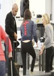 Kendall Jenner Street Style - at LAX Airport - December 2013