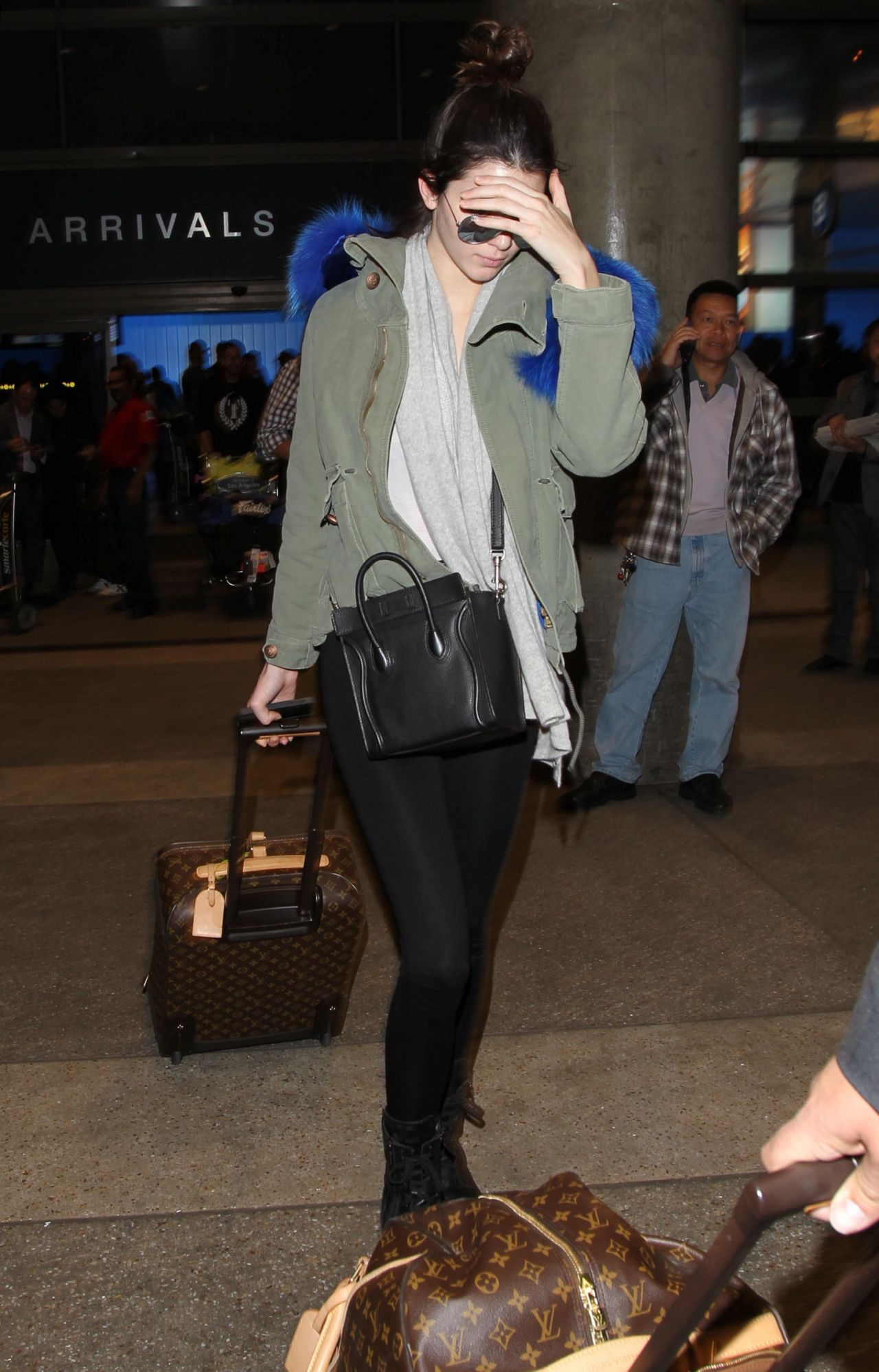 Kendall Jenner Street Style - Leaving LAX Aiport - December 2013