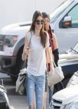 Kendall Jenner Street Style - Shopping in West Hollywood - December 2013