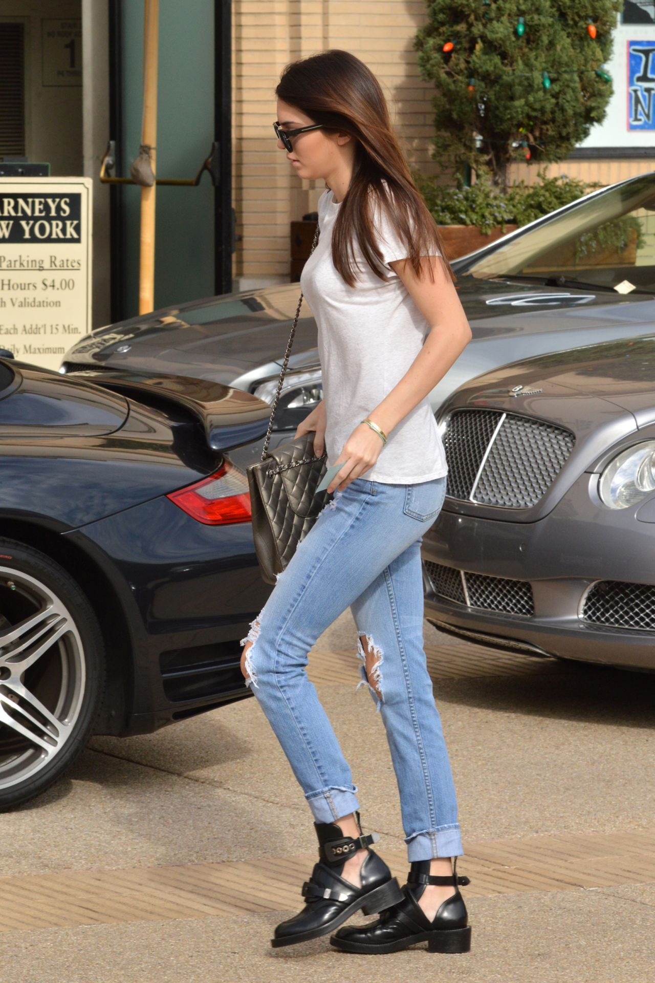 kendall jenner street style shopping in west hollywood