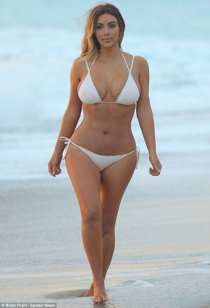 Kim Kardashian In A Bikini Beach Miami November 2013