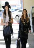Kim Kardashian & Kendall Jenner - Childrens Hospital in Xmas Visit Los Angeles - December 2013