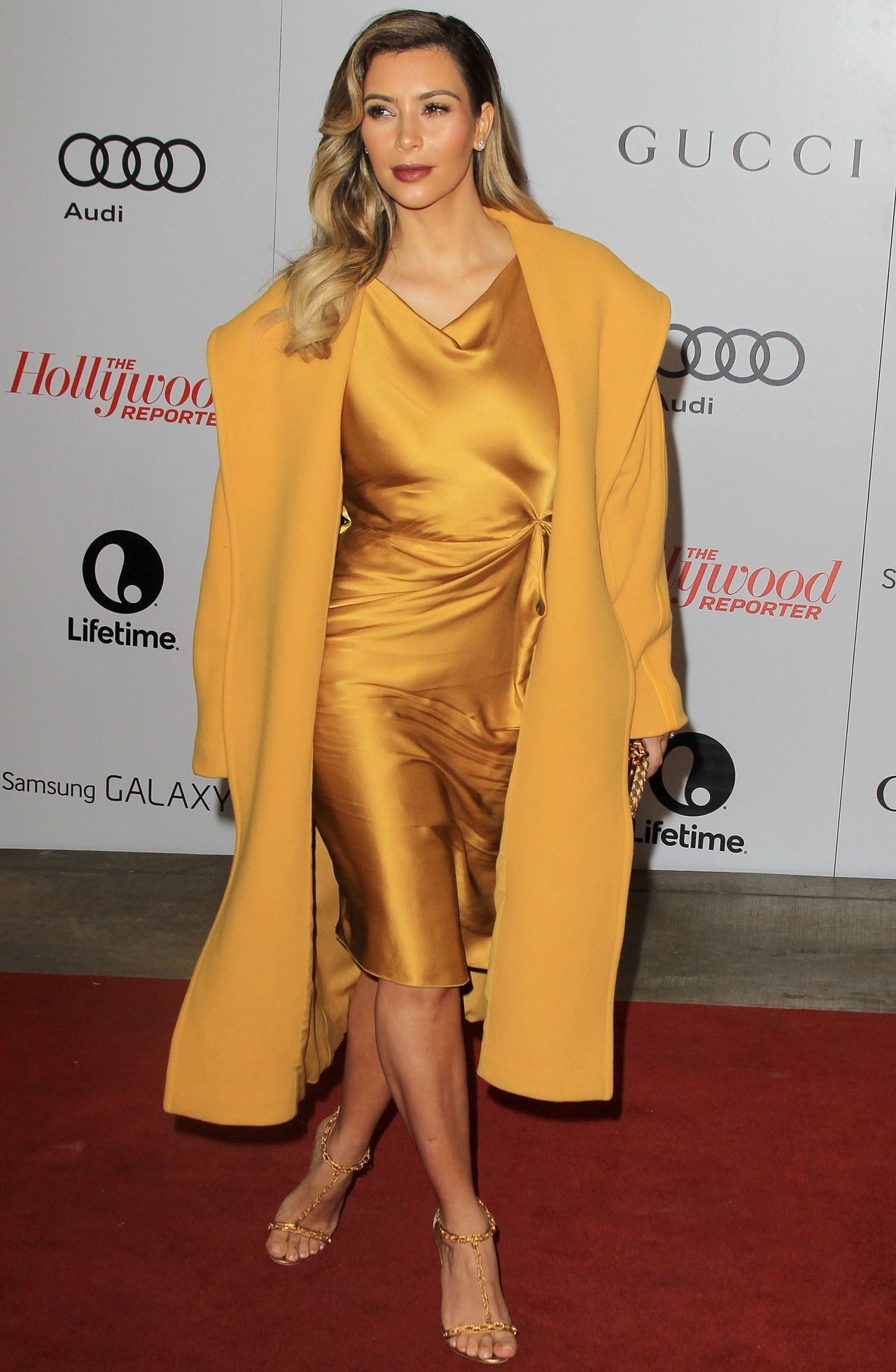 Kim Kardashian  Lights Up The Red Carpet In Yellow - THR