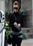 Kim Kardashian Street Style - Visits a Friend in Beverly Hills - December 2013
