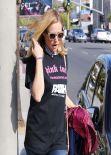 Kristen Bell Street Style- Out in Hollywood, November 2013
