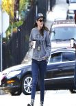 Kristen Stewart Street Style - in Jeans in Los Angeles - December 2013