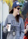 Kristen Stewart Street Style - in Jeans in Los Angeles - December 2013