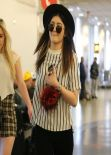Kylie Jenner Style - Dropping off a Friend at LAX Airport - December 2013