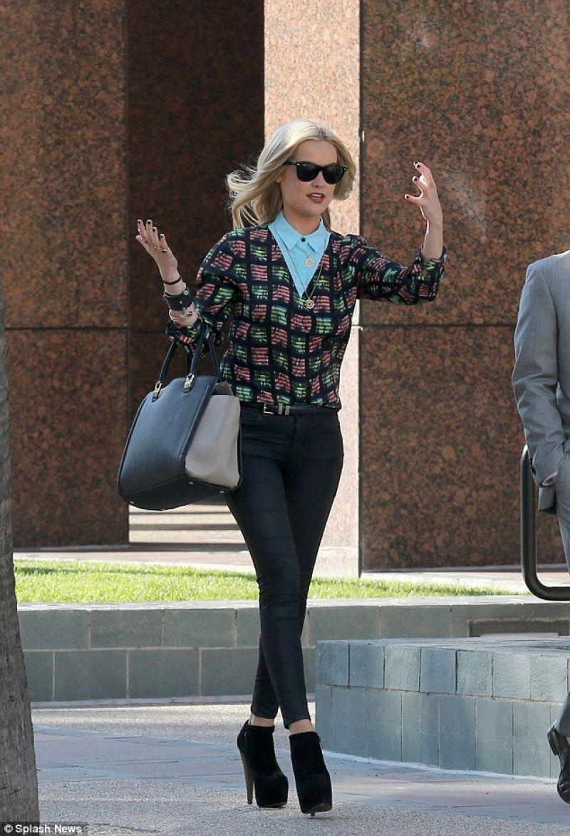 Laura Whitemore Street Style - Los Angeles December 2013