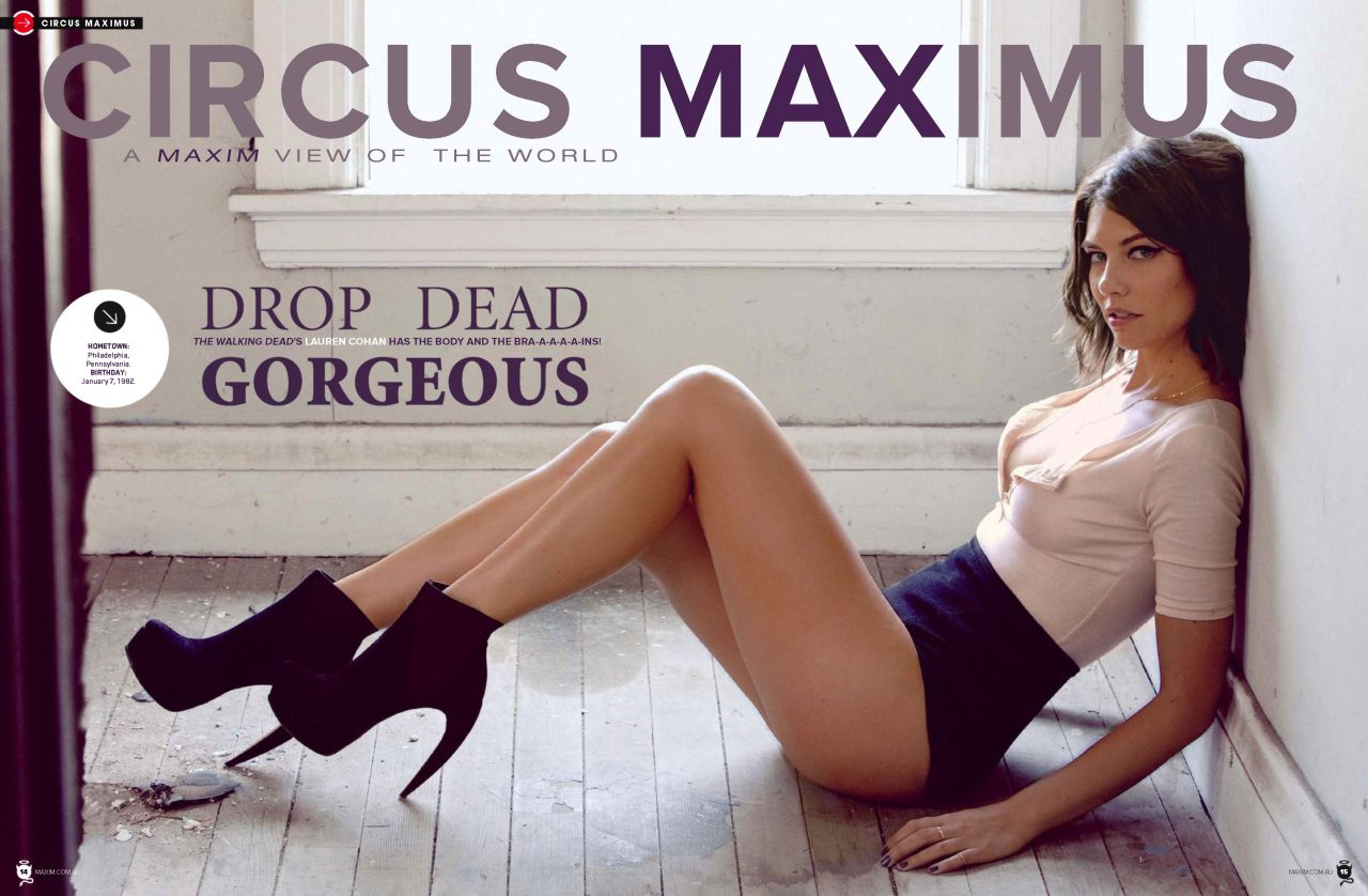Lauren Cohan Maxim Magazine Australia January 2014 Issue