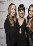 Lea Michele in a Flesh-Baring Black Frock at Switch Boutique - Los Angeles December 2013