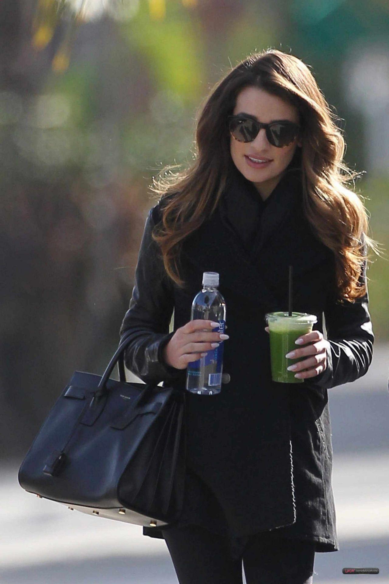 Lea Michele Street Style - Leaving Studio in W. Hollywood - December 2013