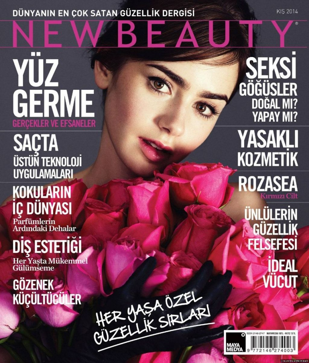 Lily Collins - NEW BEAUTY Magazine (Turkiye) – January 2014 Issue