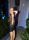 Lindsay Lohan Partying at The Shore Club in Miami - December 2013
