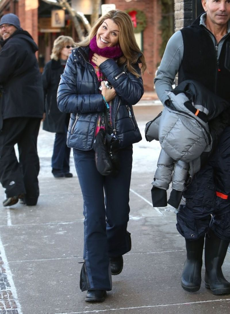 Lori Loughlin Winter Style - out in Aspen - December 2013