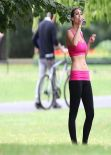 Luisa Zissman Spandex Photos - Working Out in a London Park - August 2013