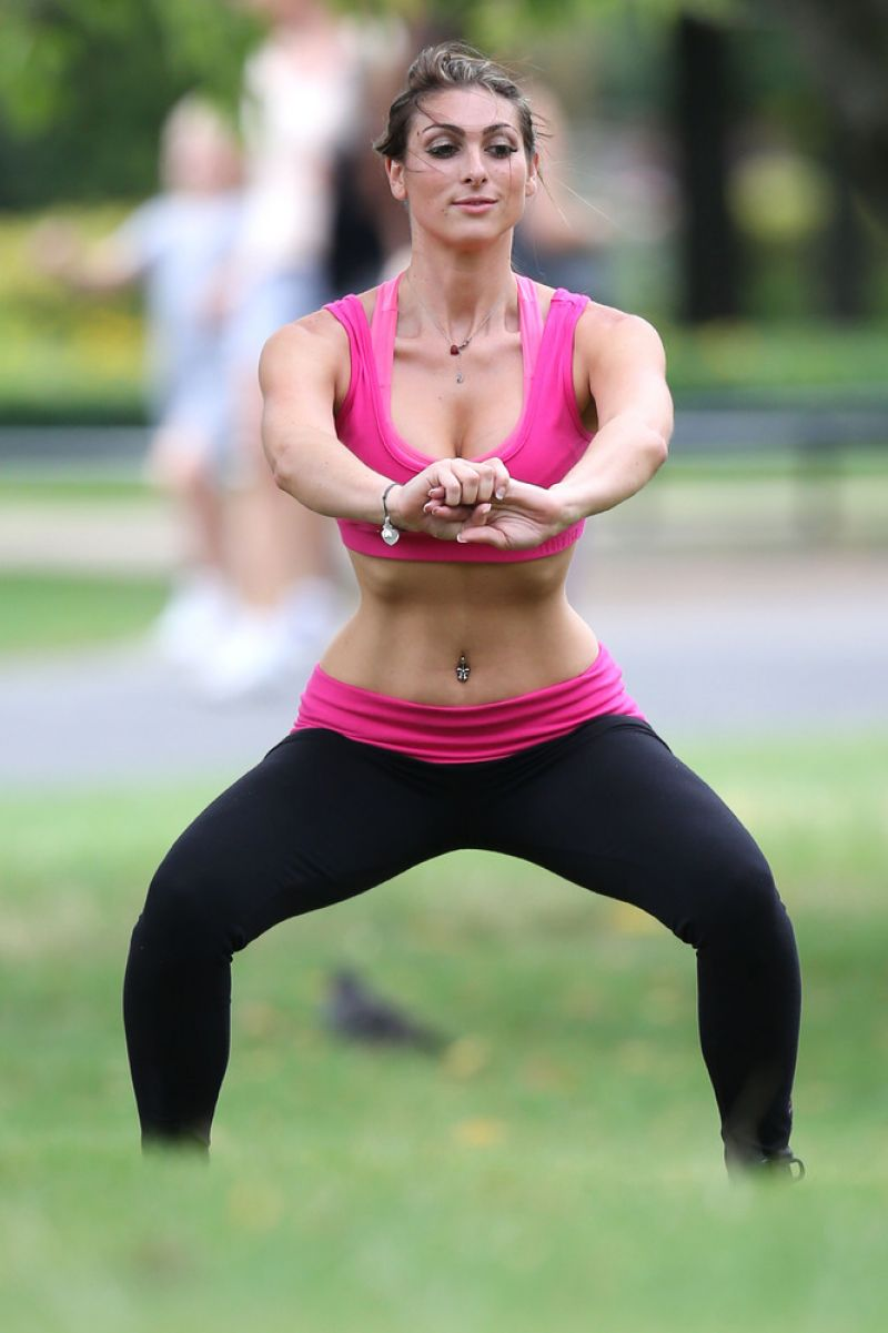 Luisa Zissman Spandex Photos Working Out In A London
