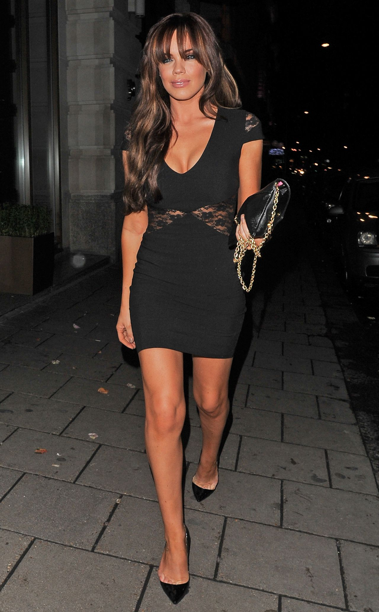 Maria Fowler Night Out Style - Leaving the Novikov Restaurant in London - Dec. 2013
