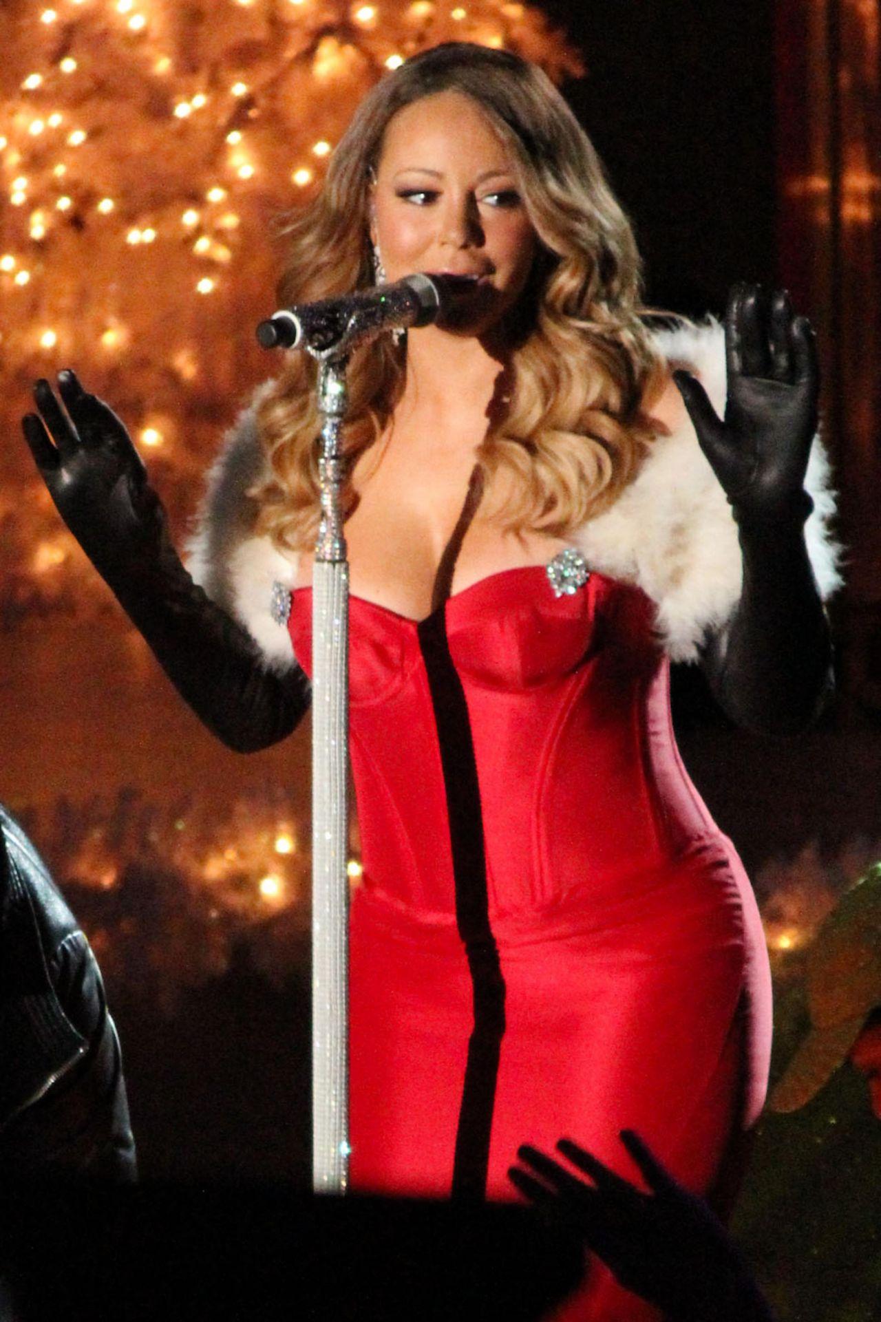 Mariah Carey Performs At 81st Annual Rockefeller Center