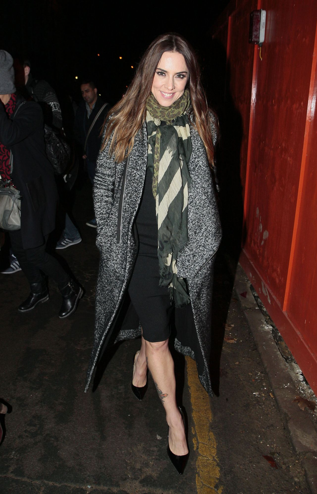 Melanie Chisholm Street Style - Leaving the Union Chapel in London - December 2013