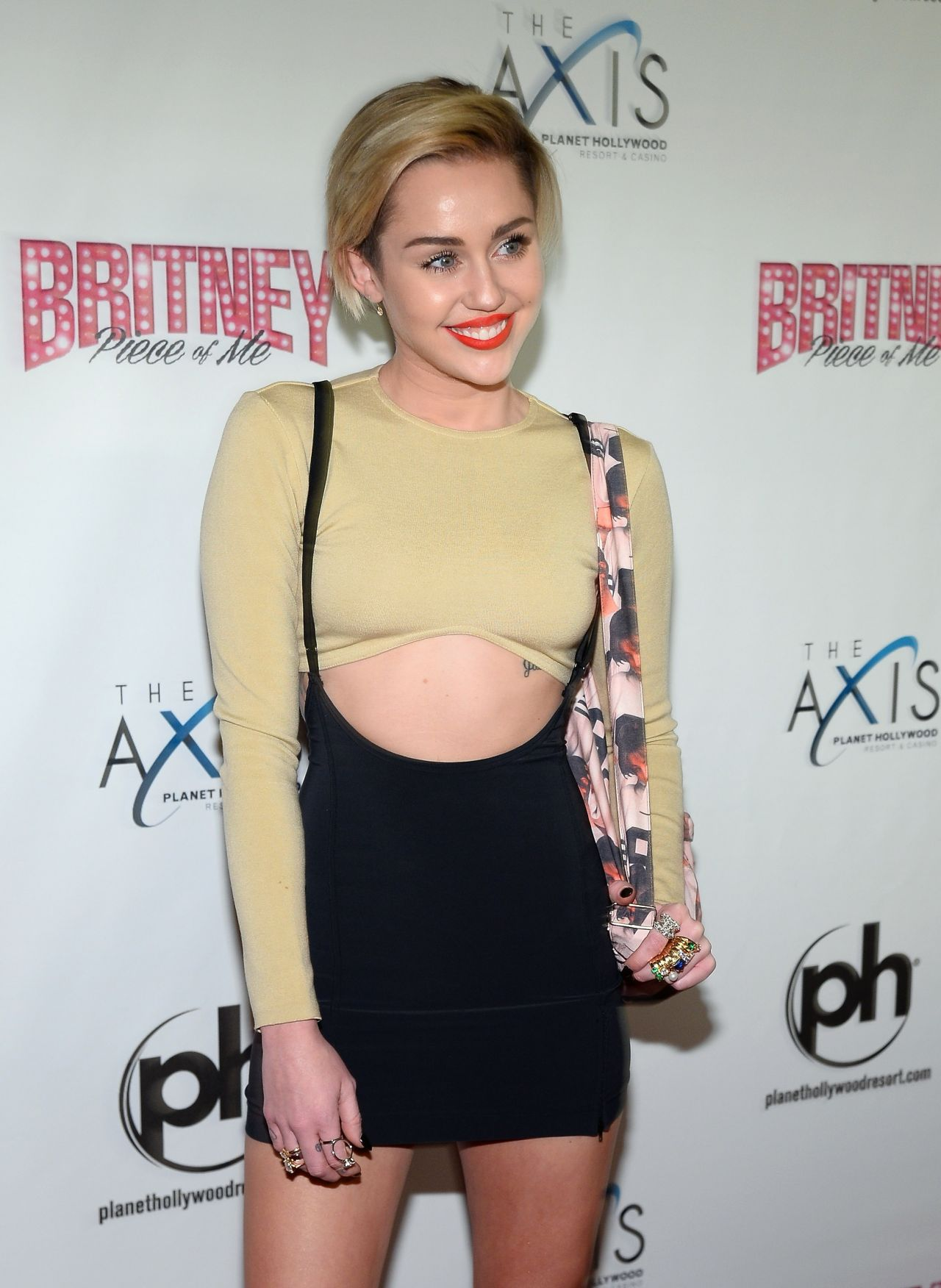 Miley Cyrus - Britney Piece of Me Grand Opening in Vegas - December 2013