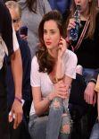 Miranda Kerr - Attending Knicks VS Raptors - Madison Square Garden, New York City
