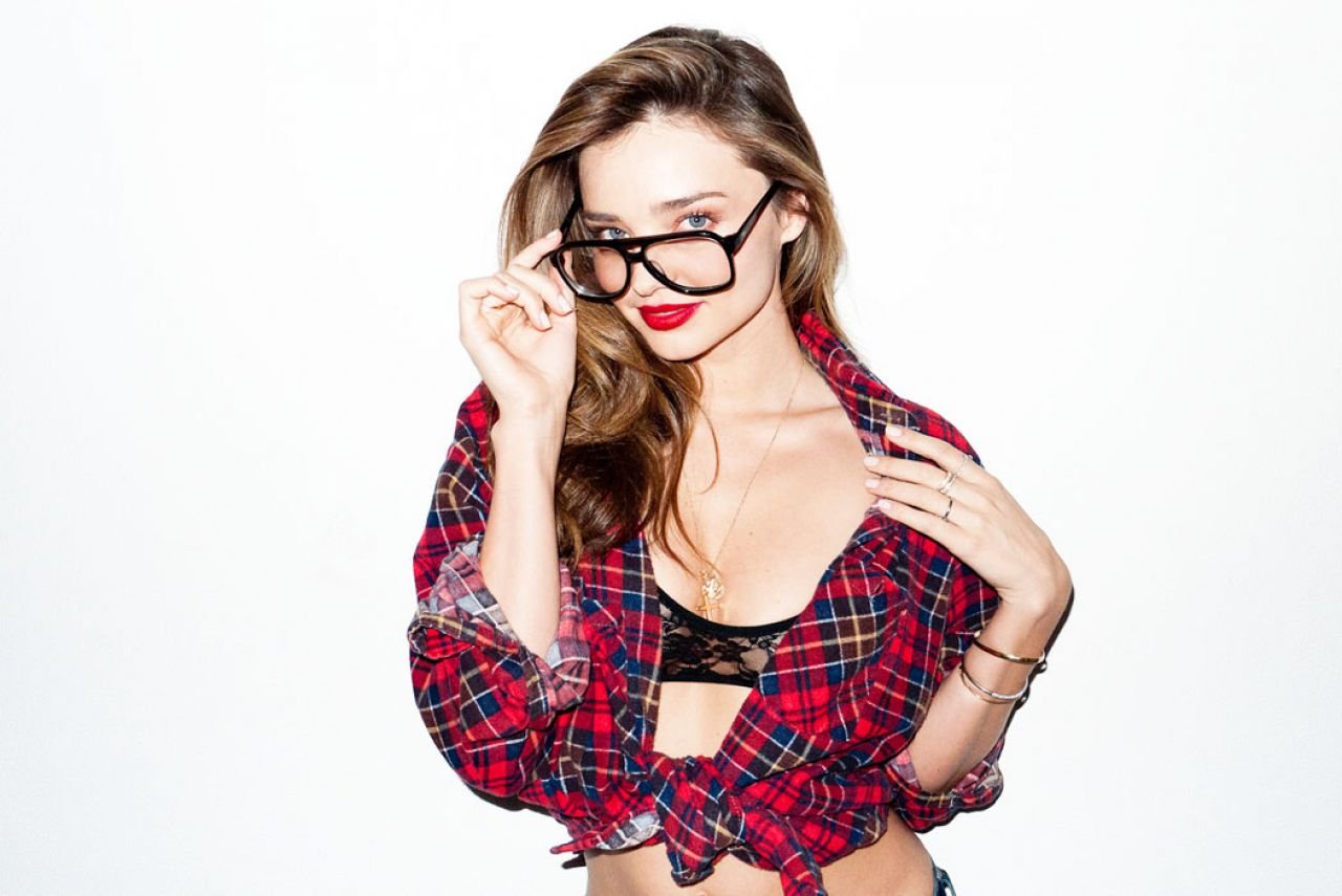 Miranda Kerr - Sheer Bra with Terry Richardson