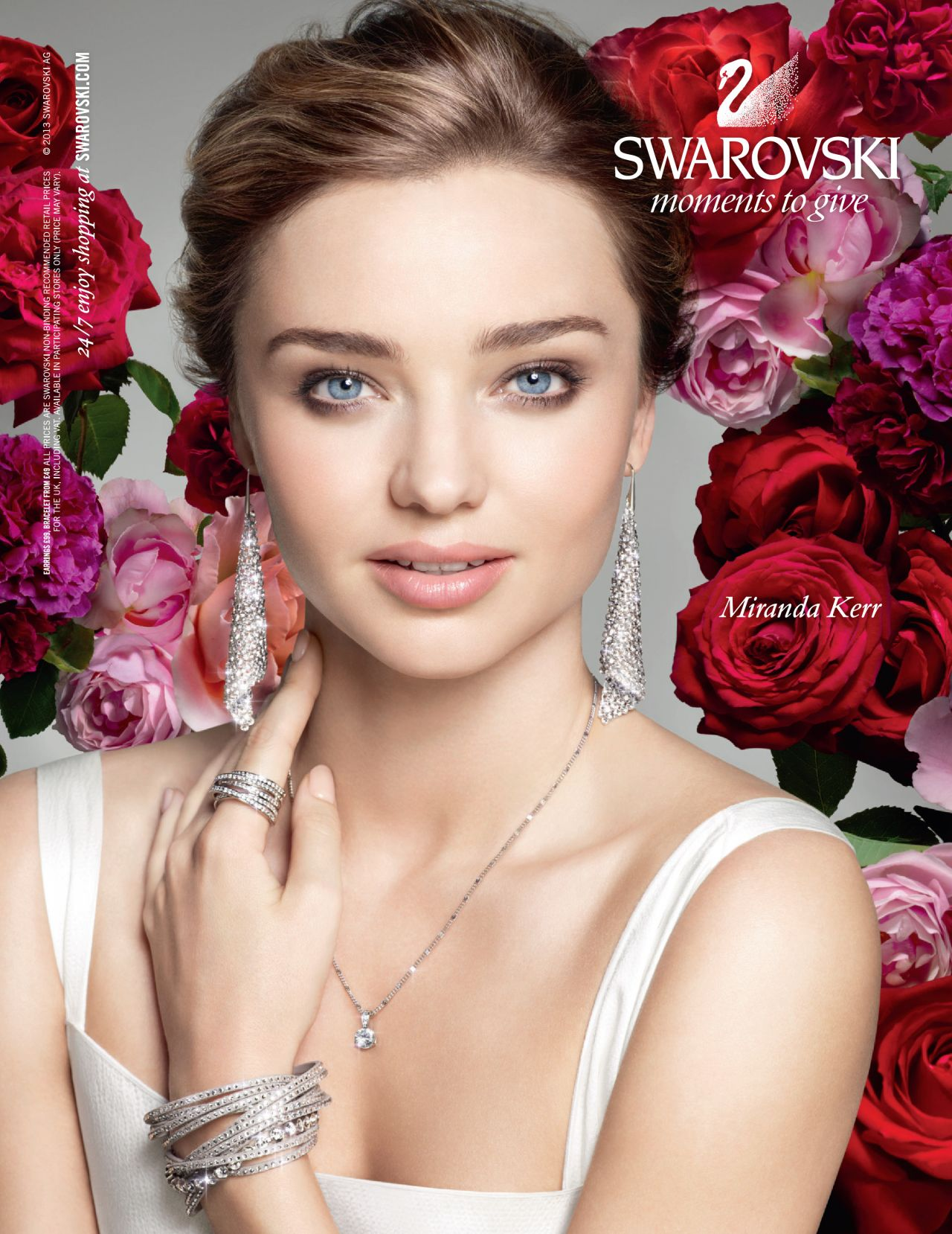 Miranda Kerr - Swarovski Ad  - Elle Magazine (UK) - January 2014 issue