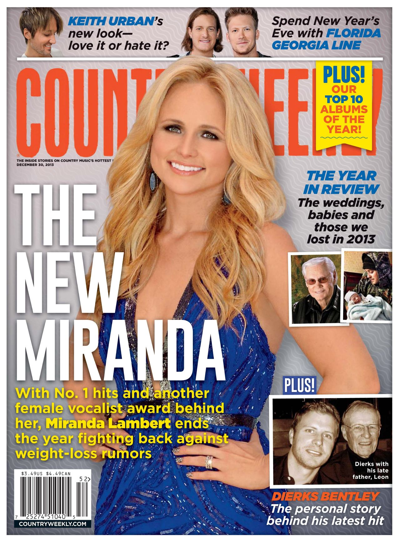 Miranda Lambert - COUNTRY WEELKY - December 30, 2013 Issue