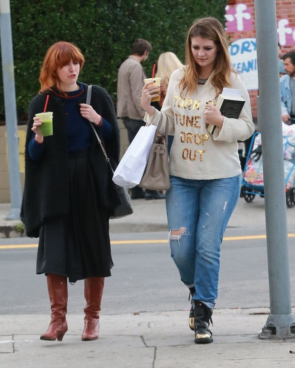 Mischa Barton Street Style In Jeans Silverlake