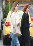 Mischa Barton Street Style - in Jeans out - Silverlake December 2013