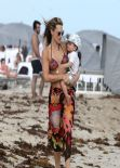 Molly Sims in a Bikini - Miami December 23rd 2013
