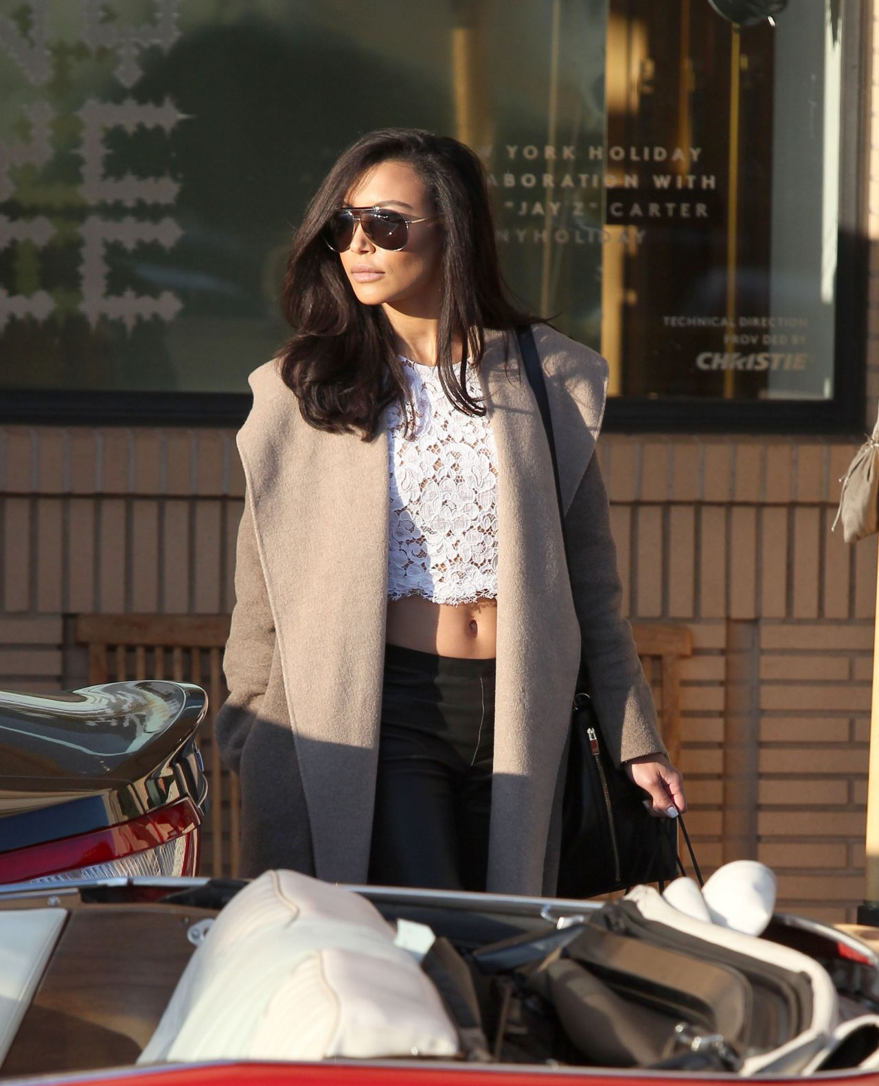 Naya Rivera Street Style - Leaving Barneys New York in Los Angeles - December 2013