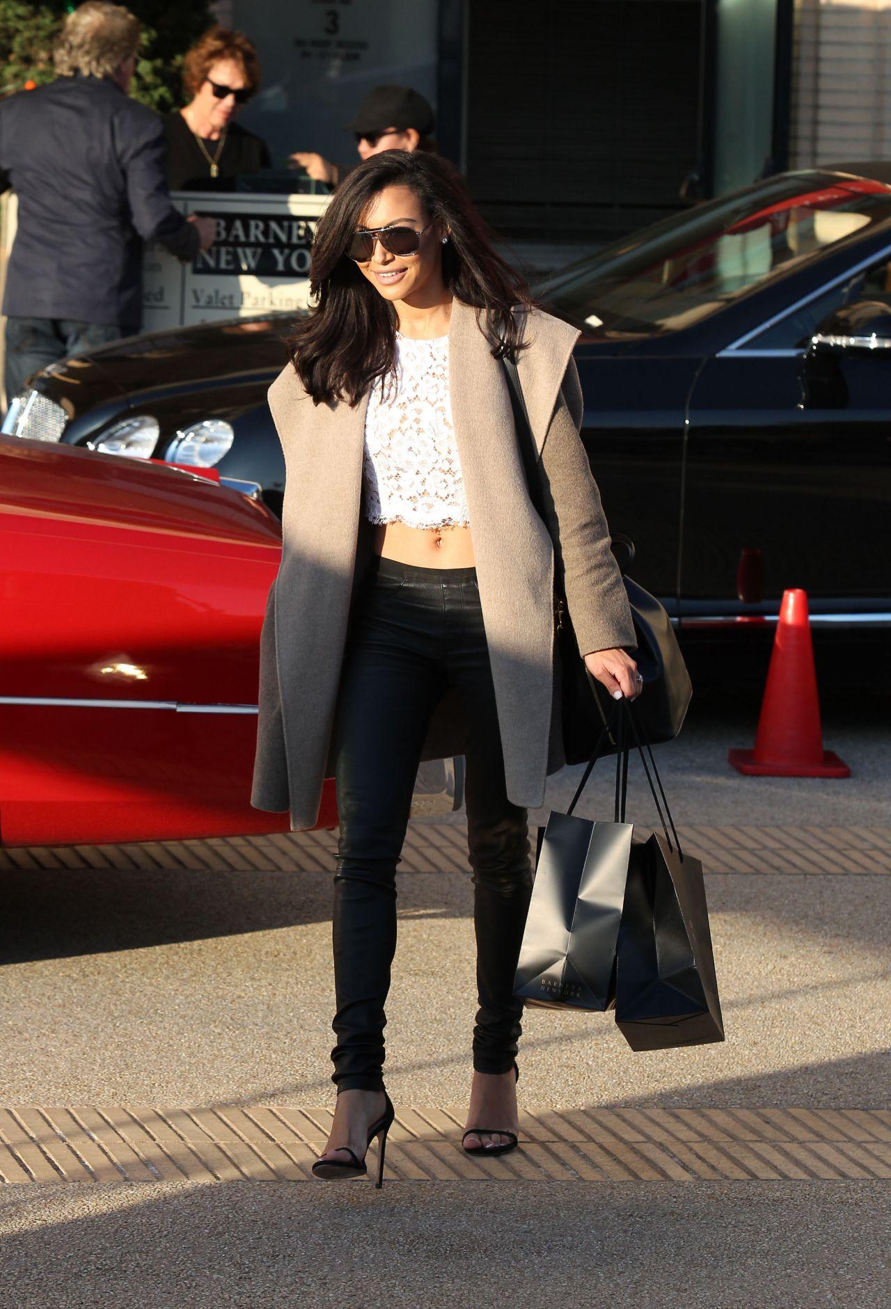 Naya Rivera Street Style Leaving Barneys New York In Los