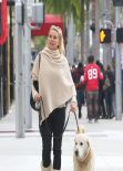 Nicollette Sheridan Street Style - out in Beverly Hills - December 2013