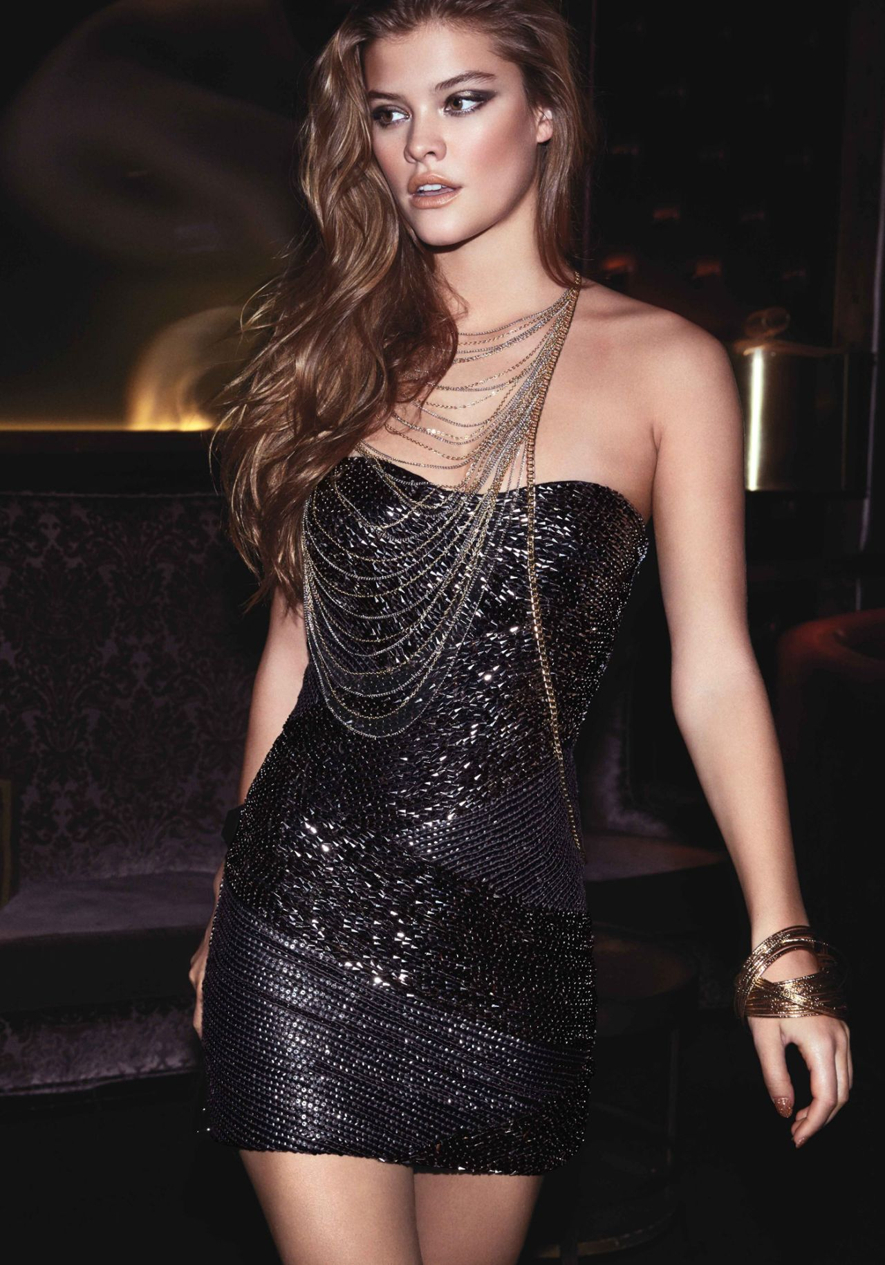 Nina Agdal Photoshoot for Bebe - December 2013