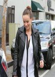 Olivia Wilde Street Style - at Dan Tana