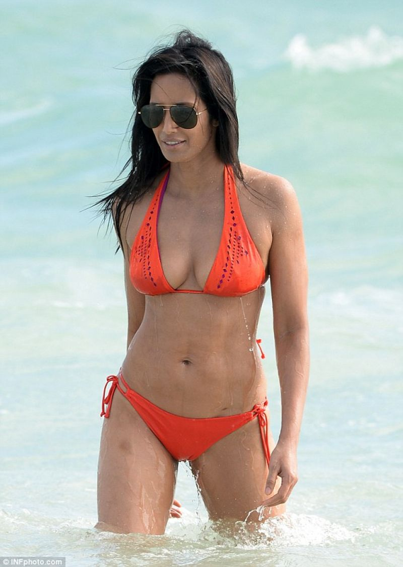 Padma lakshmi in bikini in the water