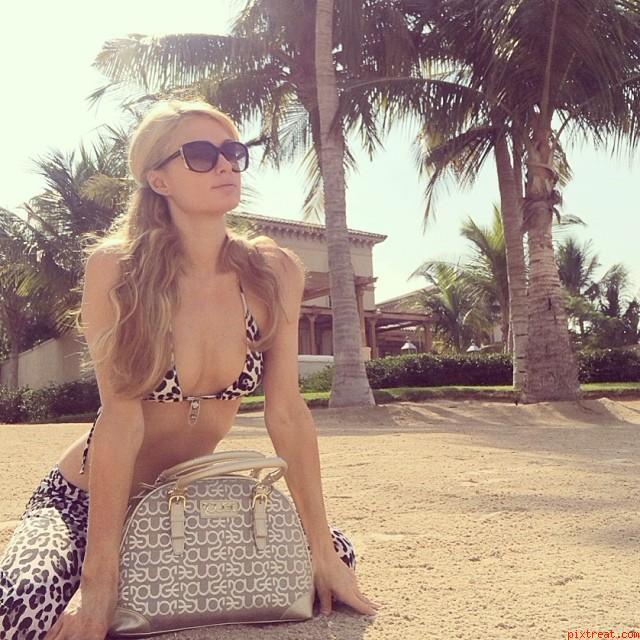 Paris Hilton Bikini Photos Twitter And Instagram Year 2013
