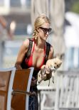 Paris Hilton in a Red Bikini in Malibu - July 2013 - 15 HQ Photos