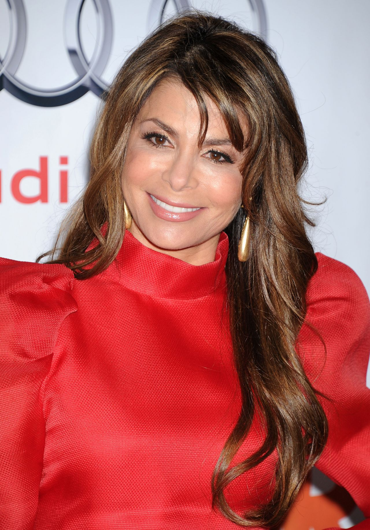 Paula Abdul in Red on Red Carpet - Trevor Project