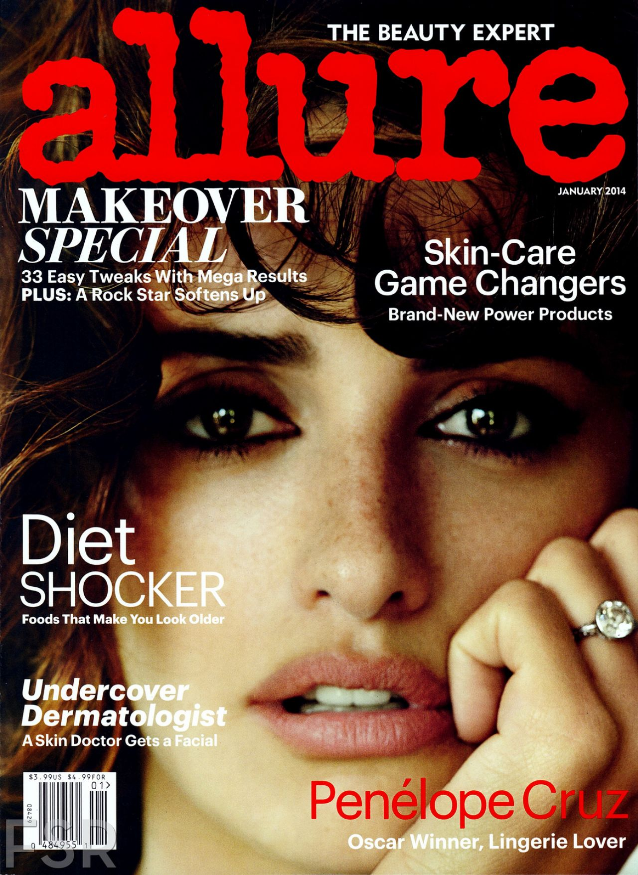 Penelope Cruz - ALLURE Magazine - January 2014 Issue