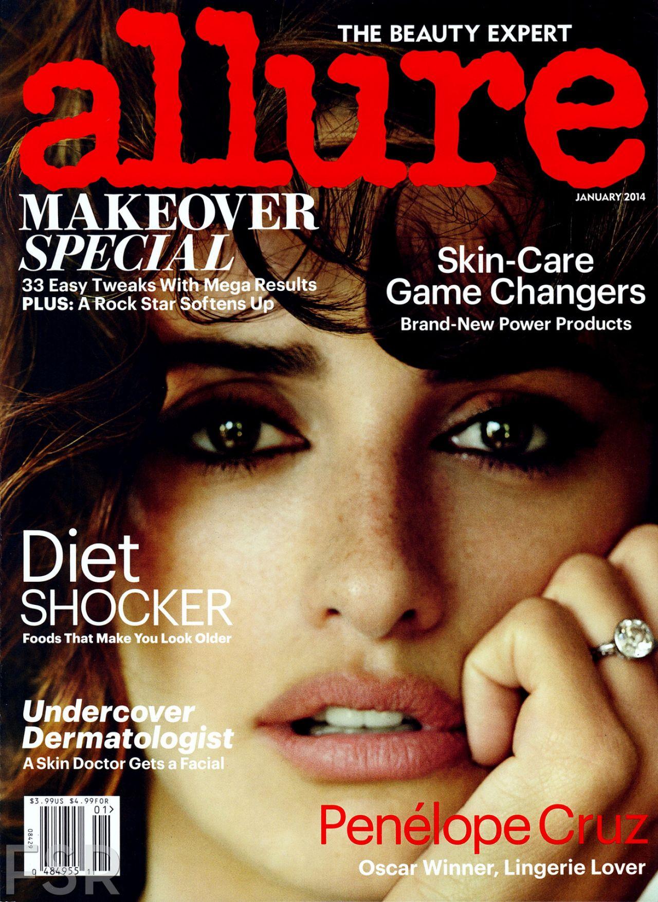 Penelope Cruz - ALLURE Magazine - January 2014 Issue