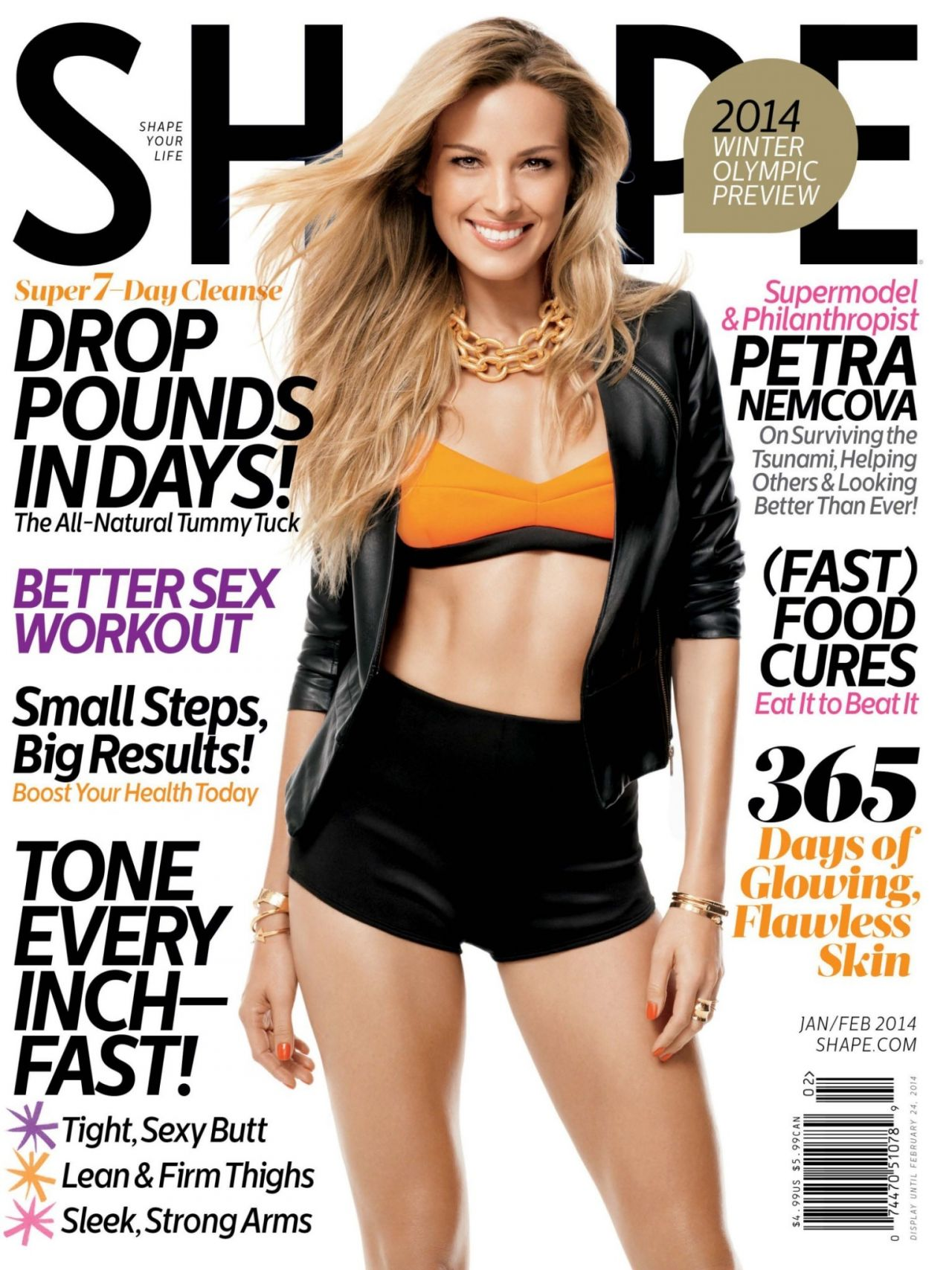 Petra Nemcova – SHAPE Magazine - January/February 2014 Issue