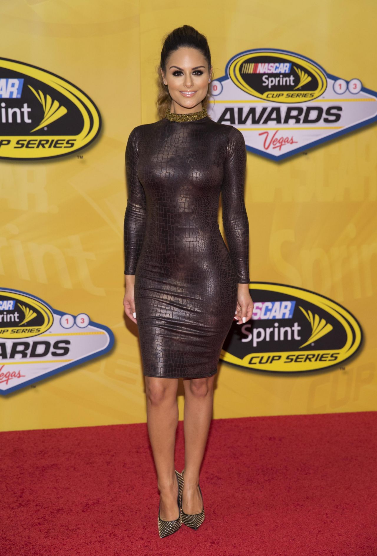 Pia Toscano on Red Carpet - 2013 NASCAR Sprint Cup Series Champion
