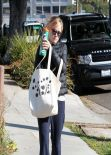 Reese Witherspoon Street Style - out in Brentwood - December 2013