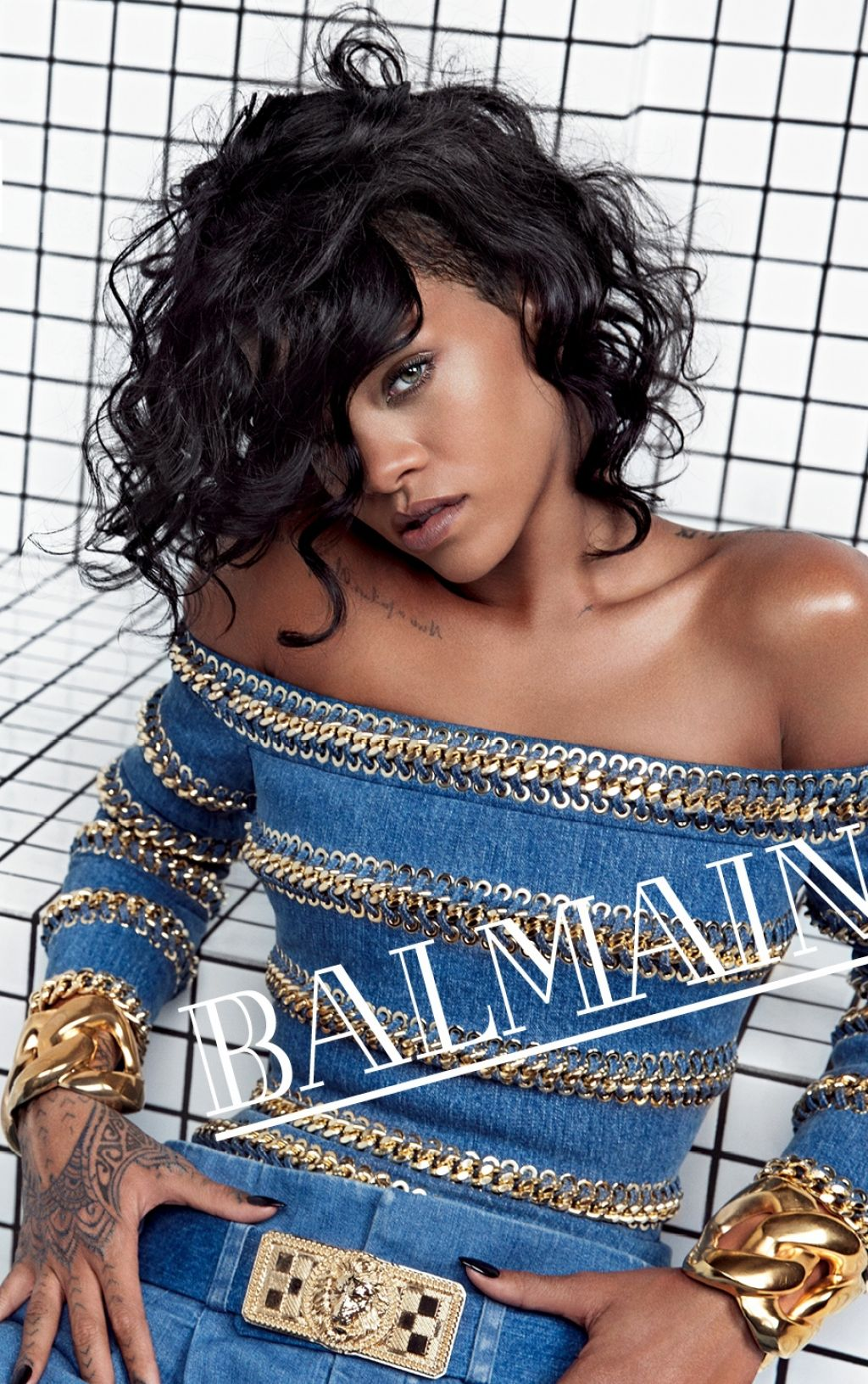 Rihanna Photoshoot by Inez & Vinoodh - Balmain Spring-Summer 2014