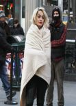 Rita Ora - On set of a DKNY Photoshoot in New York City - Dec. 2013
