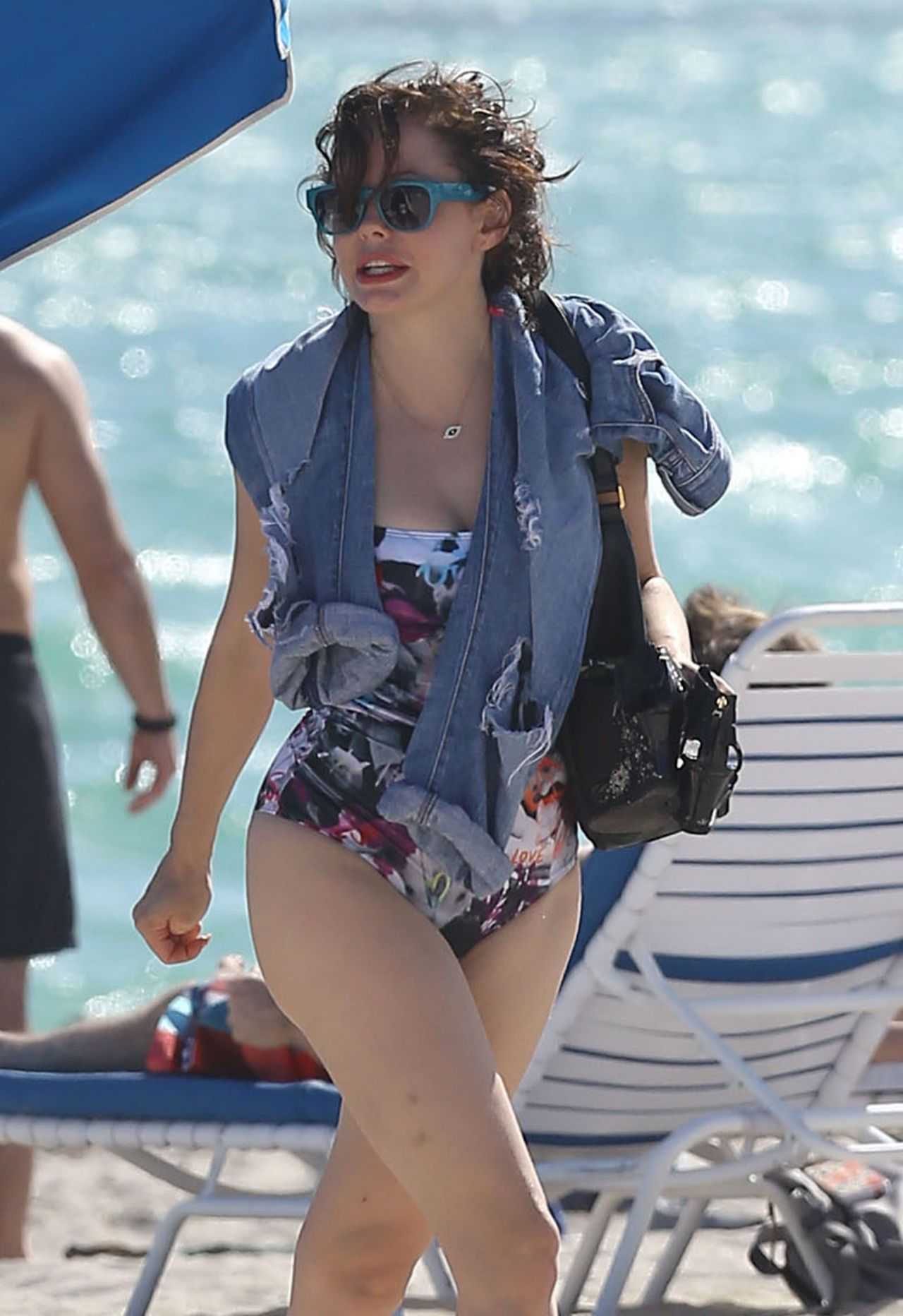 Rose Mcgowan In A Swimsuit At A Miami Beach December 2013