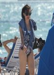 Rose McGowan in a Swimsuit at a Miami Beach - December 2013